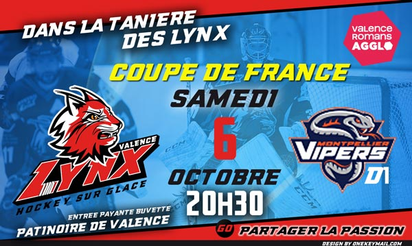 LYNX HOCKEY VALENCE COUPE DE FRANCE VIPERS MONTPELLIER DROME ARDECHE
